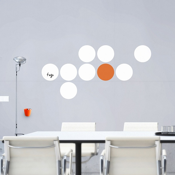 Bílé tabule kruhy velká sada (t24) | Fugu