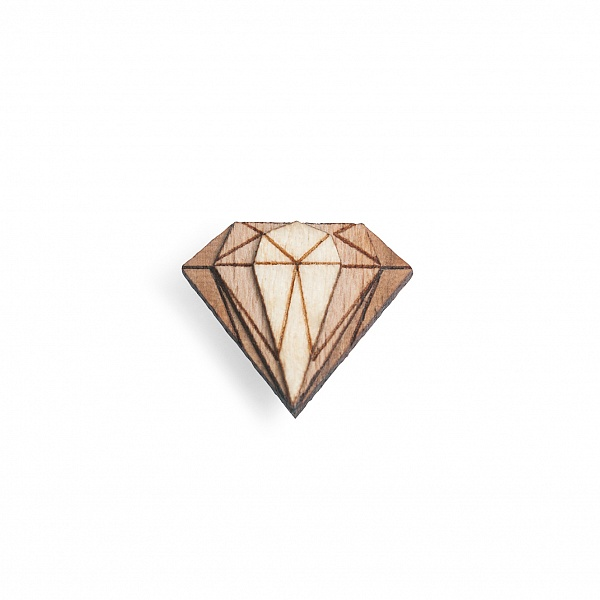 Ozdoba do klopy Diamond Lapel | BeWooden