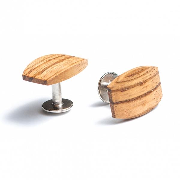 Dřevěné manžetové knoflíčky Lini