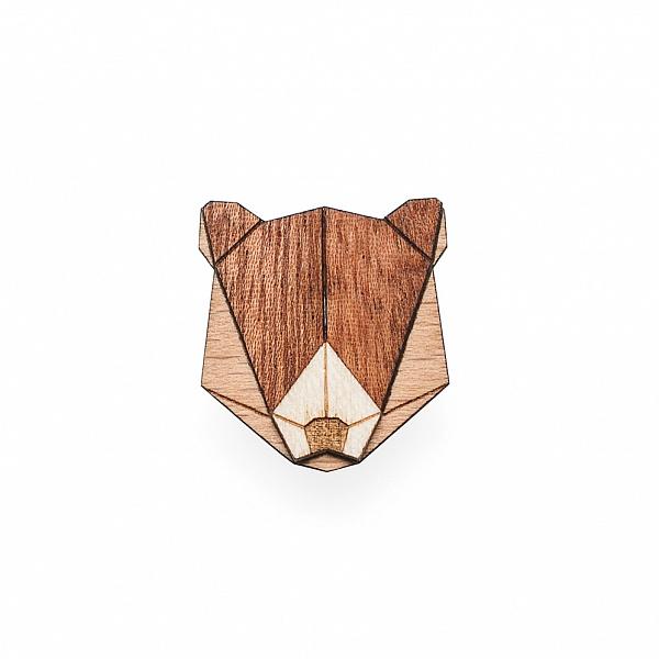 Dámská dřevěná brož Bear Brooch