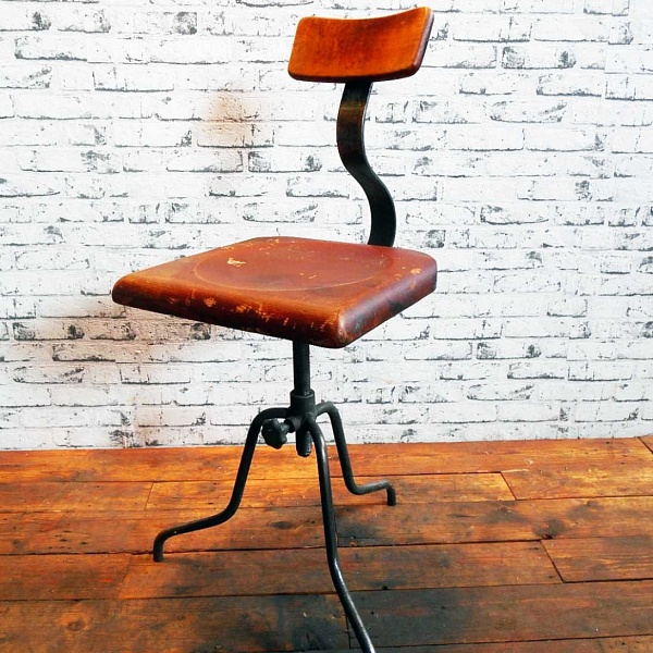 Industriální dílenská židle | Industrial Antik