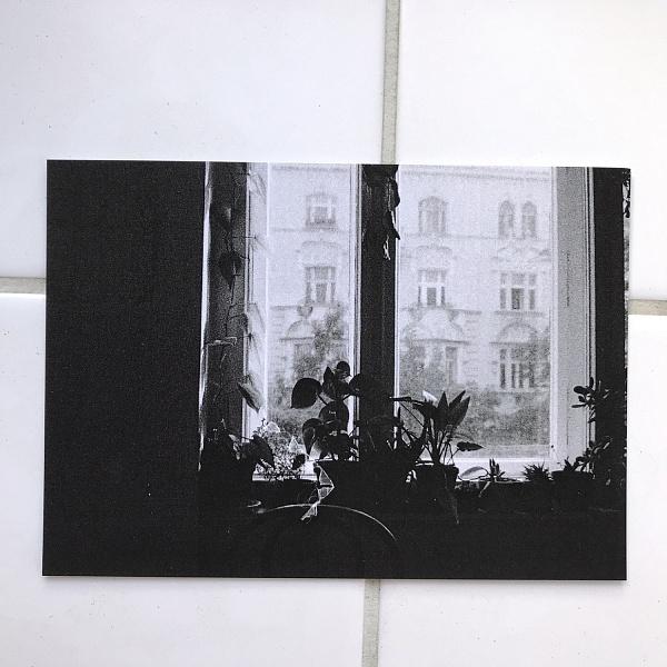 Kytky na okně - pohlednice | Arisu