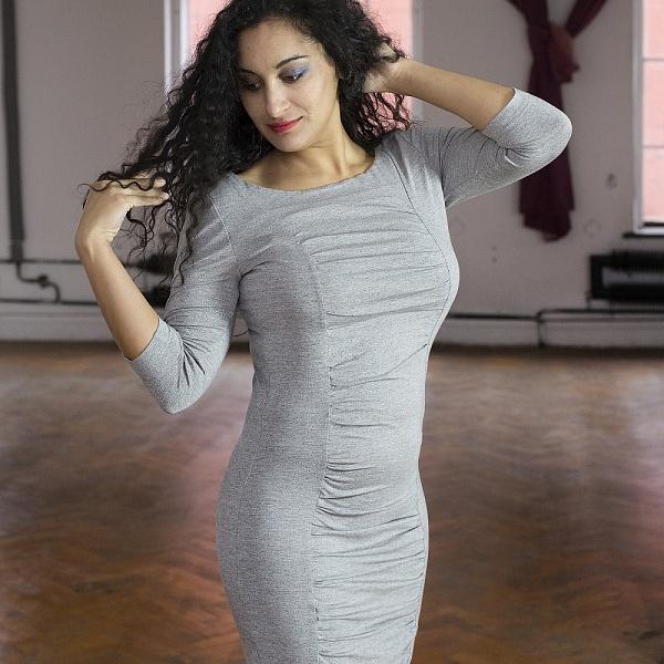 Šaty řasené šedé | Gypsy Mama