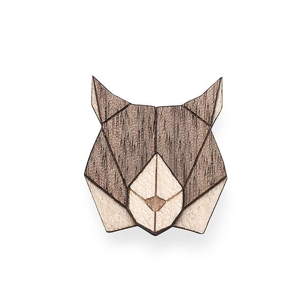 Dámská dřevěná brož Lynx Brooch | BeWooden
