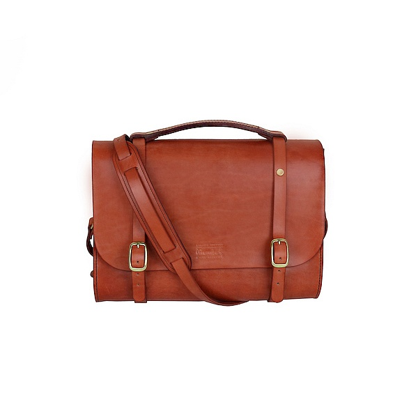 Leather Briefcase - mahagon hnědá | Promise Clothing