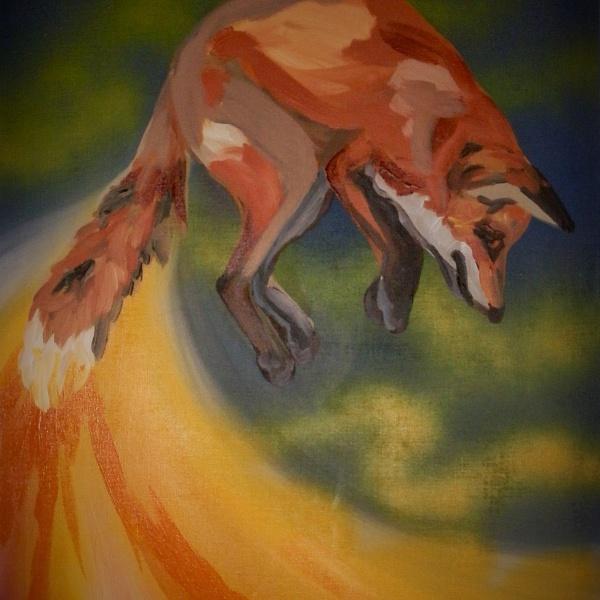 Liška ve skoku | Soňa Valentová