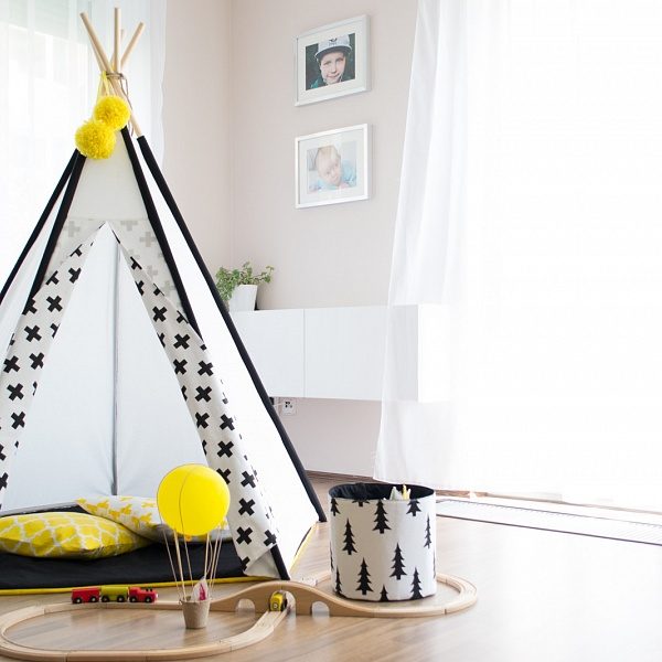 Teepee BLACK/WHITE PLUS | Happy-teepee