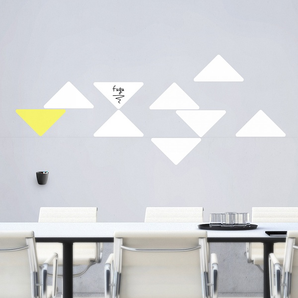 Bílé tabule trojuhelníky malá sada (t27) | Fugu