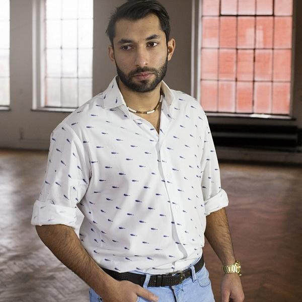 Pánská košile s pírky | Gypsy Mama