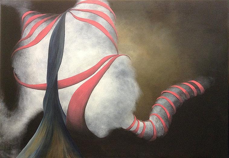 SHROUD, 2015 acrylic and oil on canvas 105 x 150 cm | SHROUD