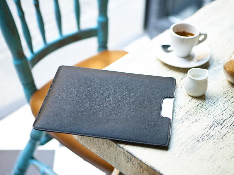 Černý kožený obal na iPad | Kožený obal na iPad černý