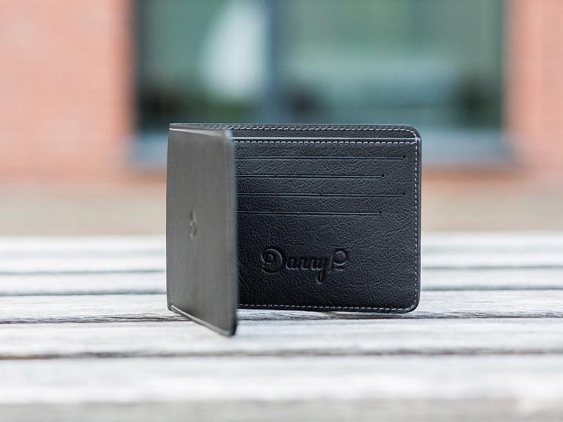Černá kožená slim peněženka | Kožená Slim peněženka černá