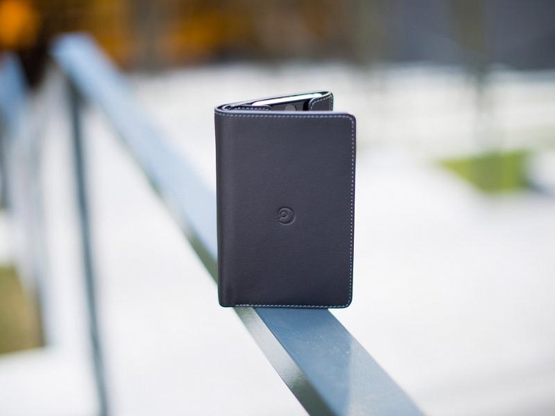 Černá peněženka s pouzdrem na iPhone 6/6s | Kožená peněženka s pouzdrem na iPhone 6