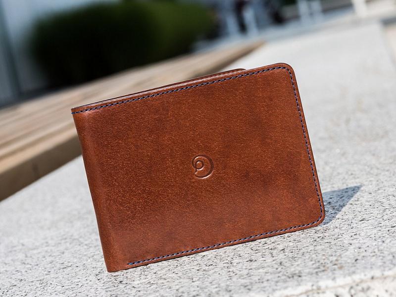Tmavě hnědá kožená slim peněženka | Kožená Slim peněženka tmavě hnědá