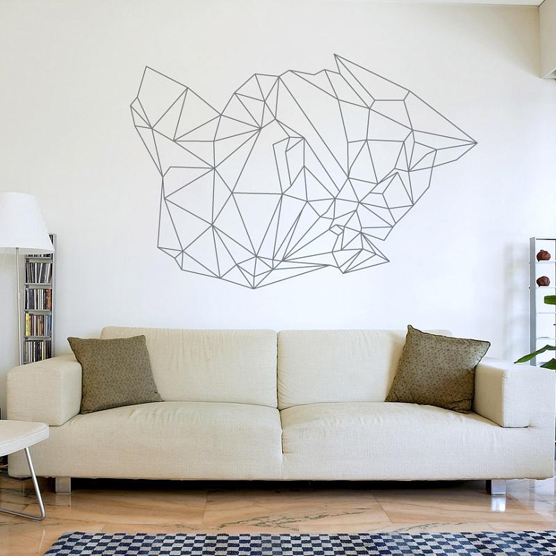 Abstraktní moderní dekorace na zeď geo | Geo (w178)