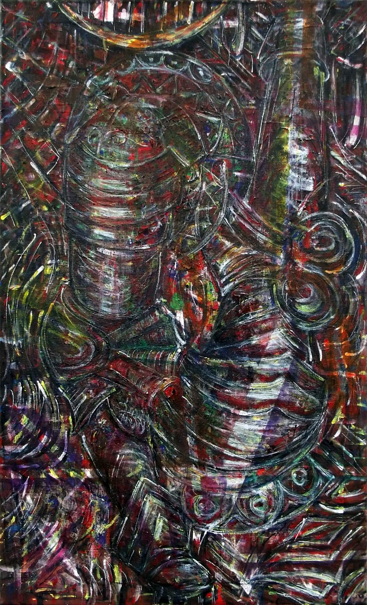 Armored Arms, kombinovaná technika na plátně, 60x100cm, 2016 | Armored Arms