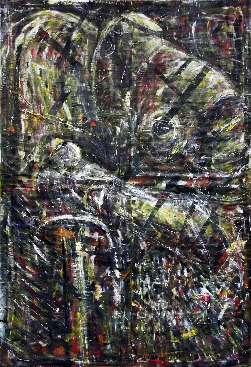 Dawnfall, kombinovaná technika na plátně, 100x150cm, 2016 | Dawnfall