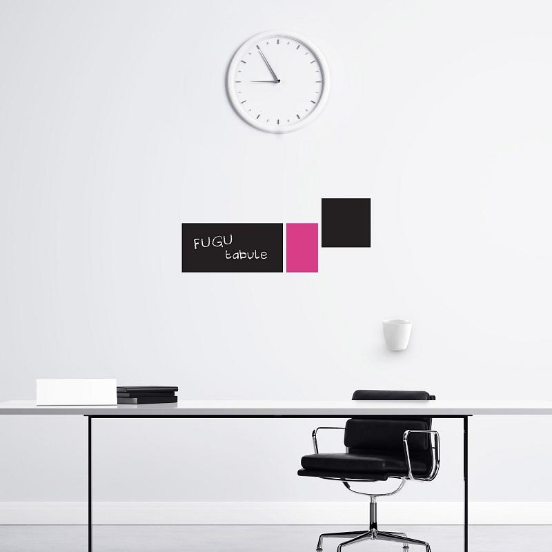 Designové černé samolepicí tabule na zeď obdélníky malá sada | Černé tabule obdélníky malá sada (t29)