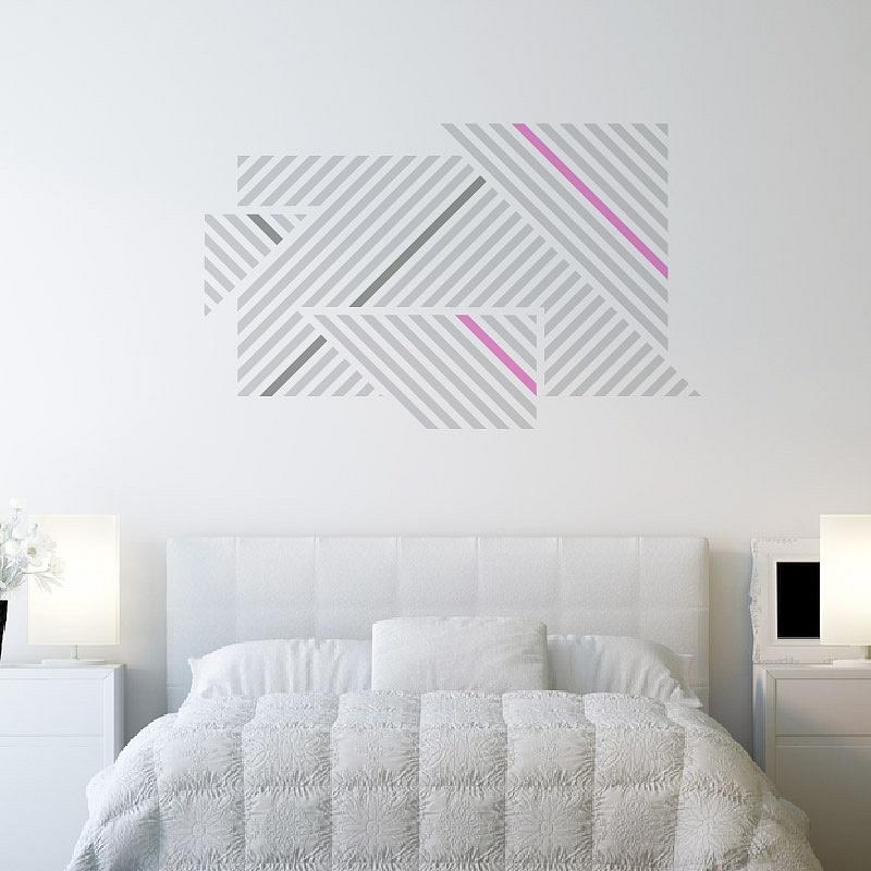 Designové samolepky na zeď proužky 072 074 045 | Lineatus (w248)