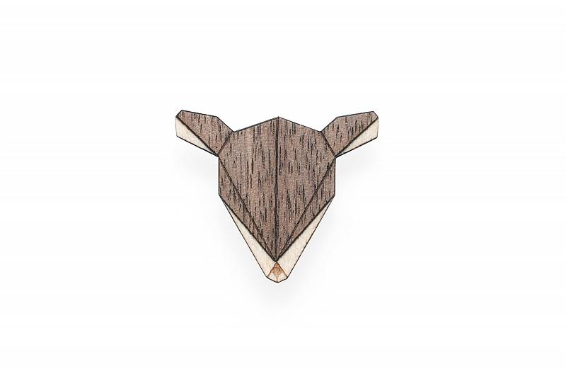 Dámská dřevěná brož Doe Brooch
