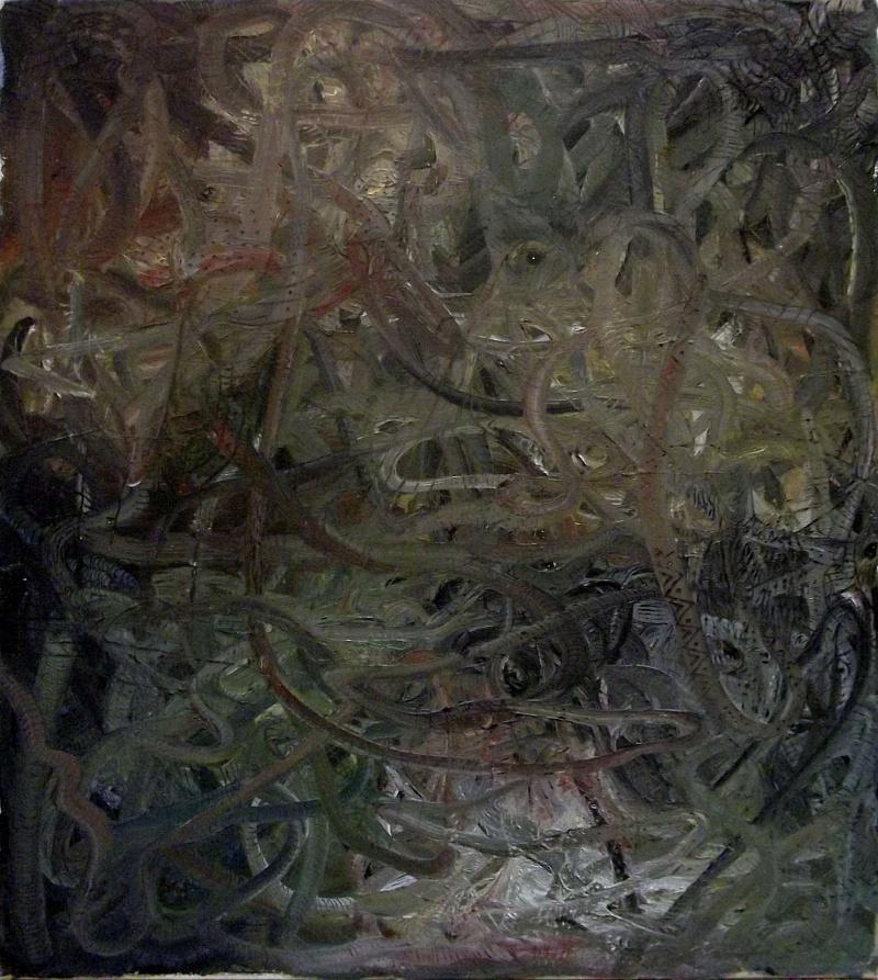 Invisible, kombinovaná technika, 80x90cm, 2015 | Invisible