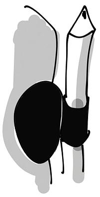 Pen loop černý | Pen loop Black Brick černý