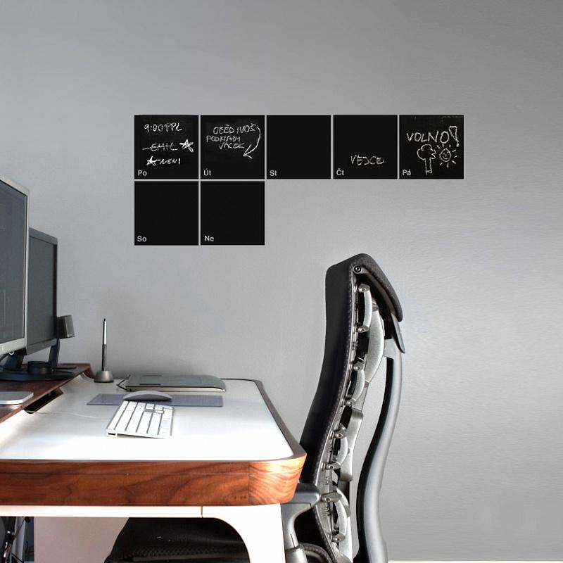 Samolepící kalendář na zeď pro psaní křídou | Tabulový kalendář (t02)