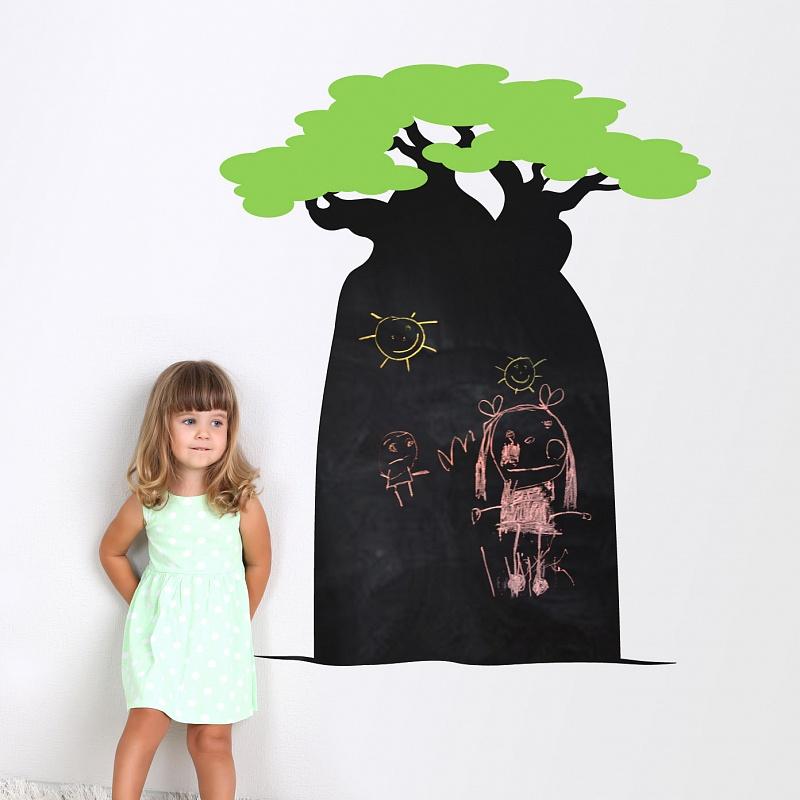 Samolepící tabule na zeď pro děti baobab | Nalepovací tabule Baobab (t01)