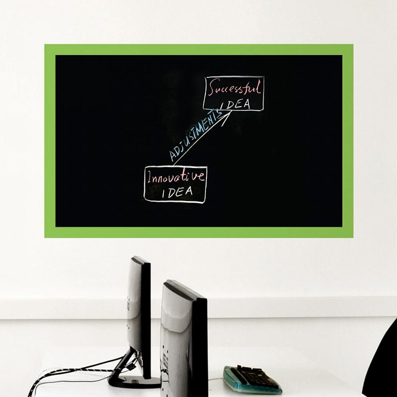 Samolepicí tabule na zeď s rámečkem černá | Černá nalepovací tabule s rámečkem (t17)