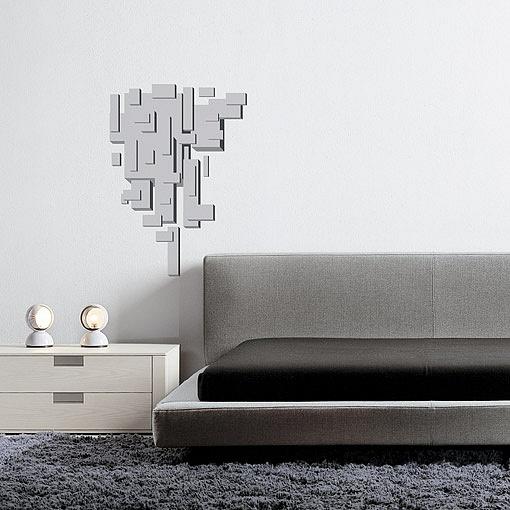 Design na stěnu složený z bloků vytvářející prostorový efekt. | Blocks (w02)
