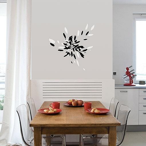 samolepící dekorace kvetoucí trávy | Kvetoucí tráva (w37)