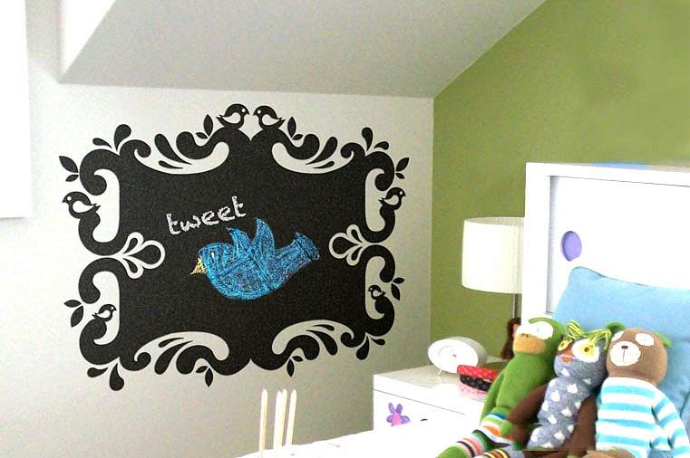 Samolepka na stěnu nalepovací tabule v dětském pokoji | Nalepovací tabule (su2102)