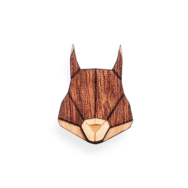 Dámská dřevěná brož Squirrel Brooch