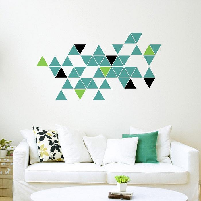 Stylová moderní samolepka na zeď trojúhelníky trigonum 695 070 063 | Trigonum (w236)