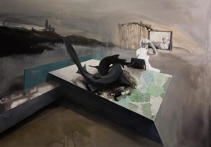 Akryl na plátně 200 x 140 cm | Zrcadlo